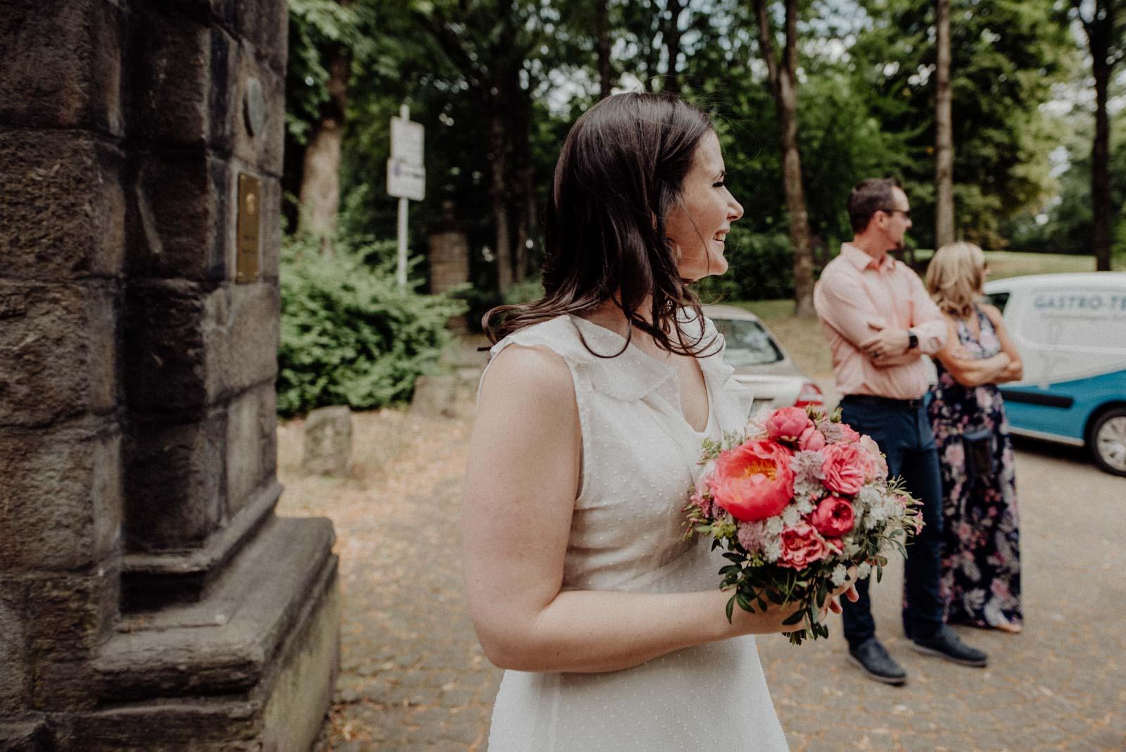 Die Braut empfaengt ihre Gaeste
