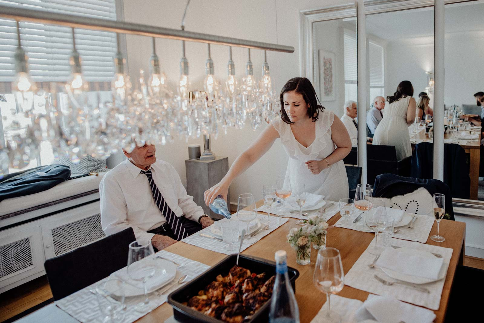 Hochzeitsdinner zu hause