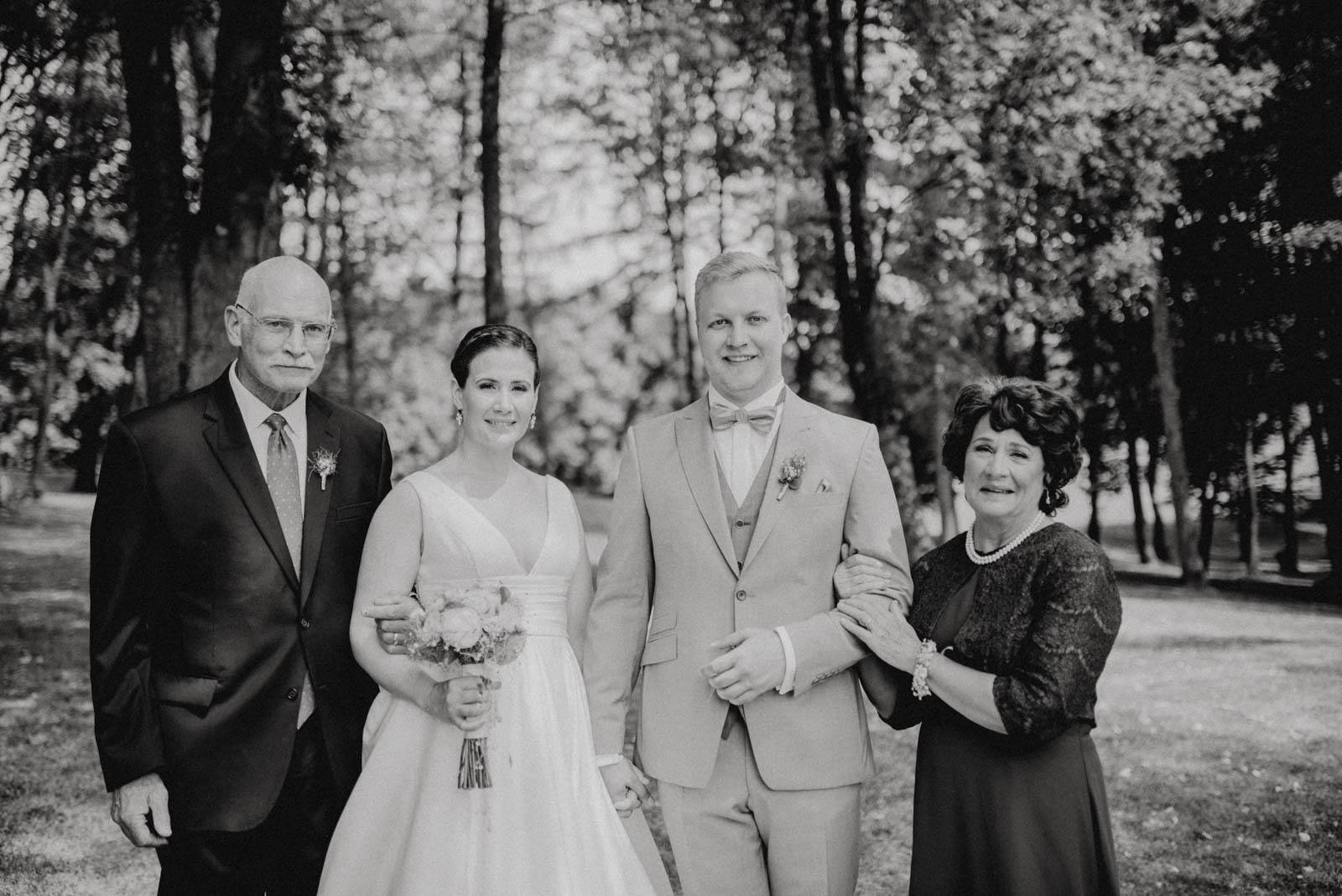Bild mit den Eltern der Braut