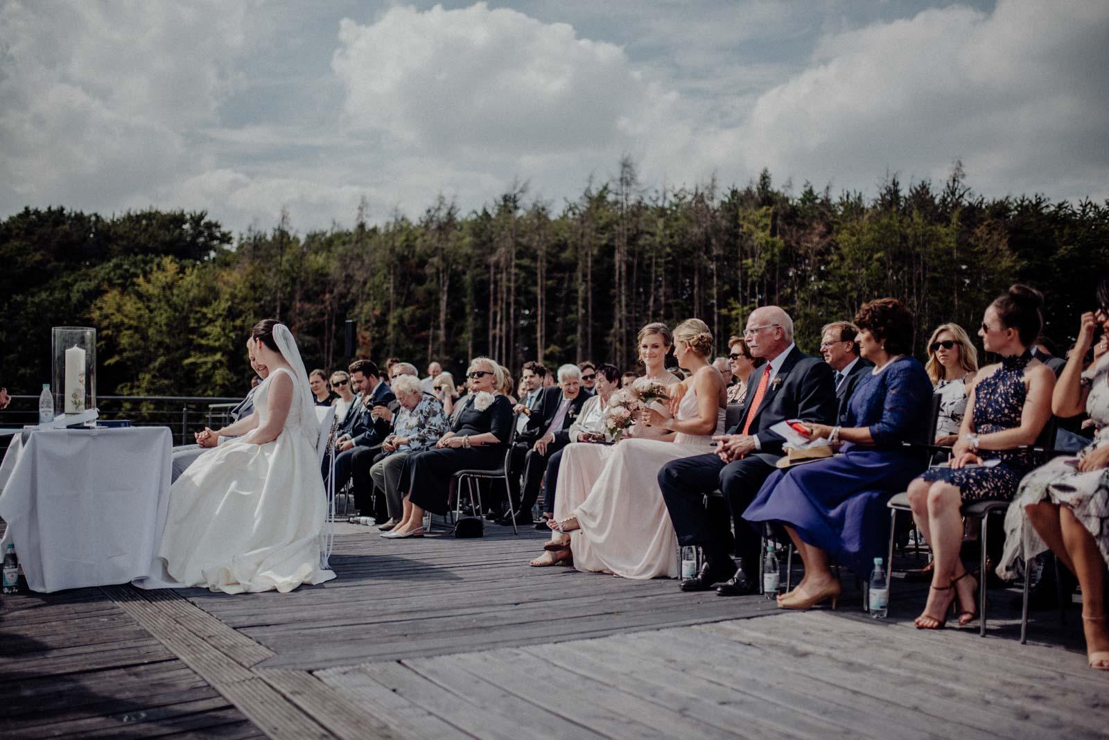 Beginn der Trauzeremonie auf dem Dach des Golfhotel Vesper