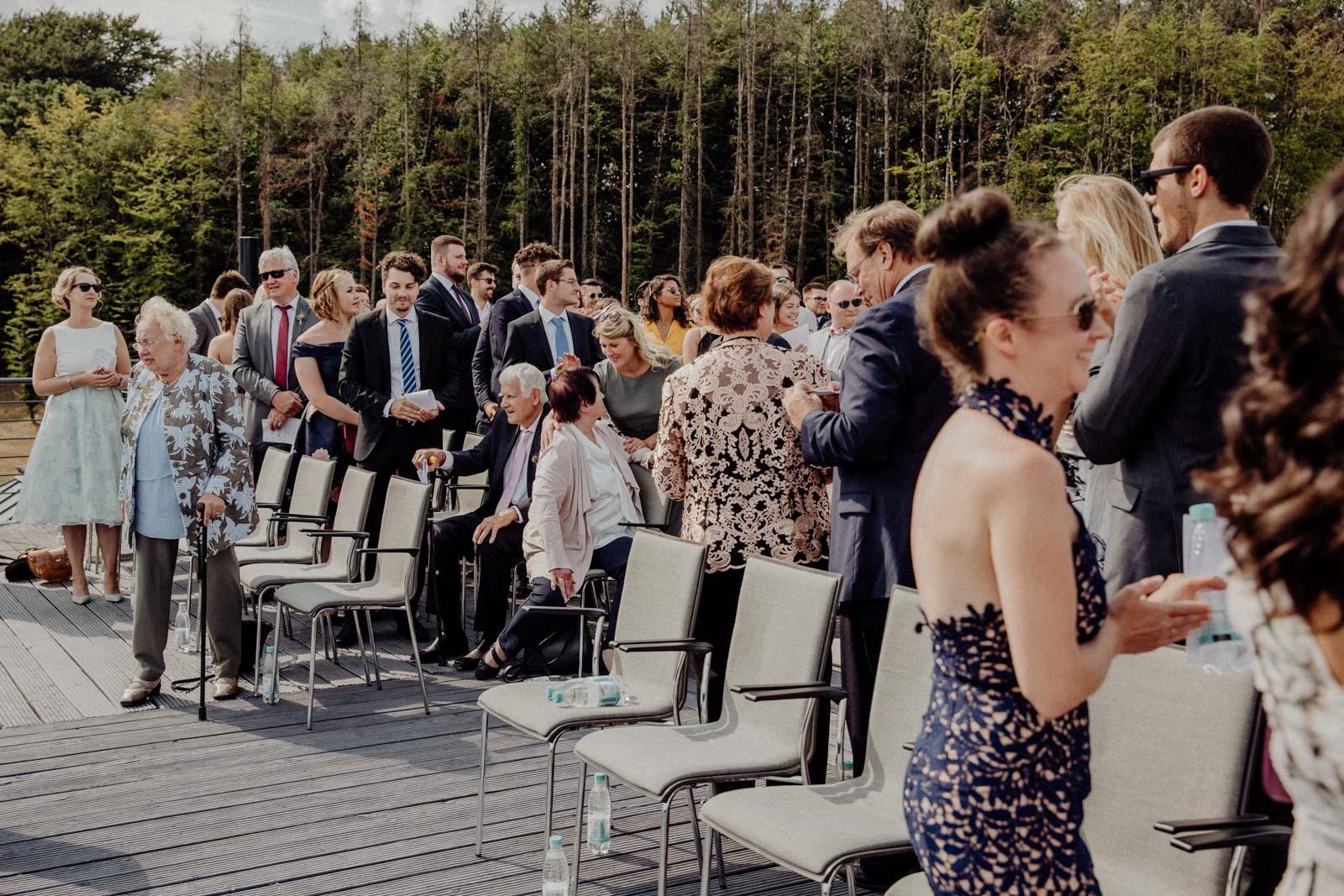 Trauung und Sektempfang auf dem Dach des Golfhotel Vesper
