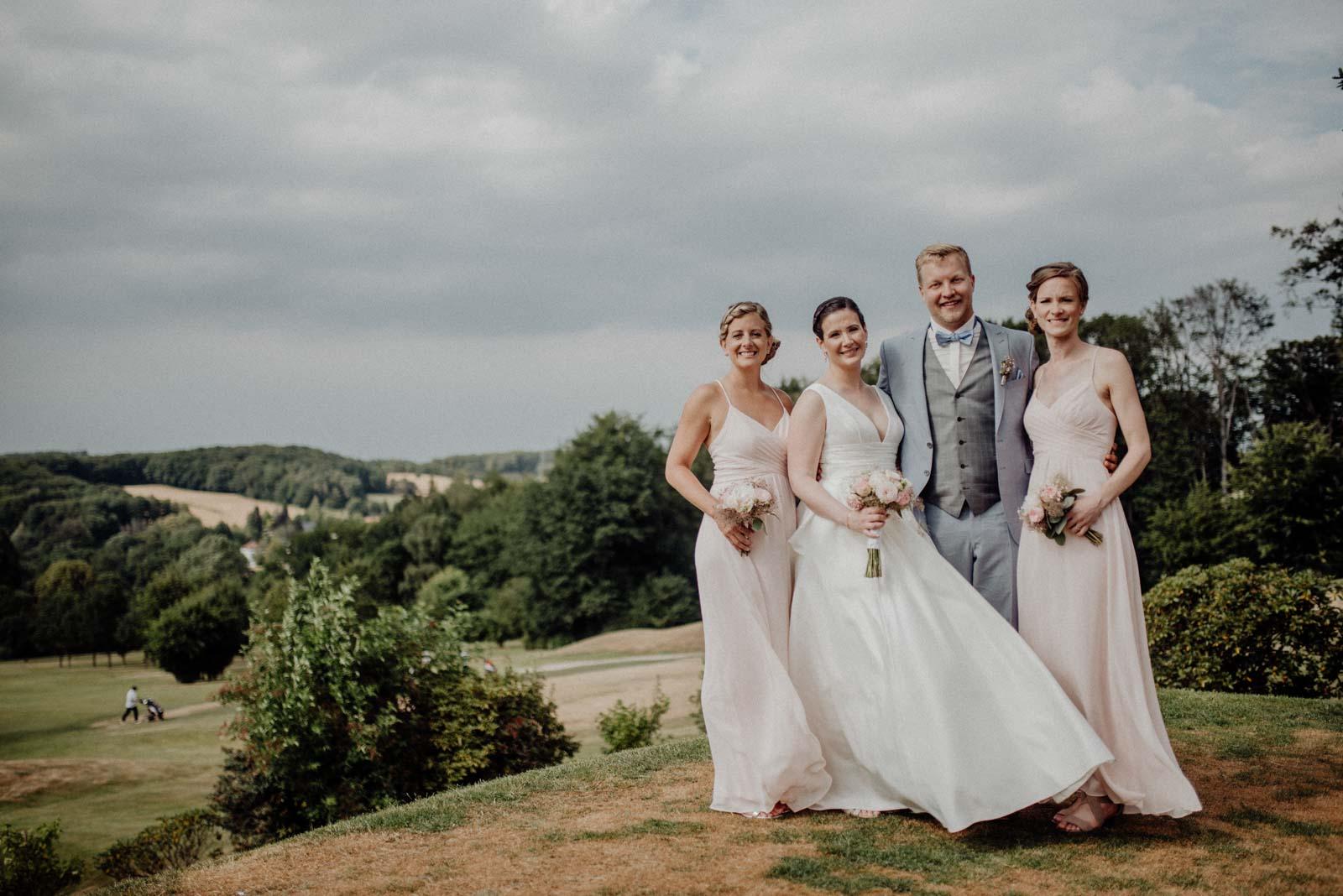 Bridesmaids Party und Fotos mit den Brautjungfern