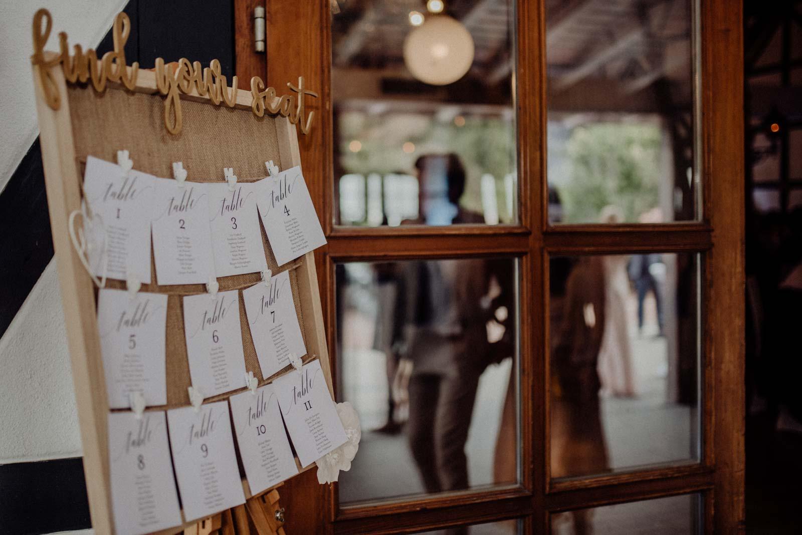 Tischplkan Hochzeitsfeier im Golfhotel Vesper
