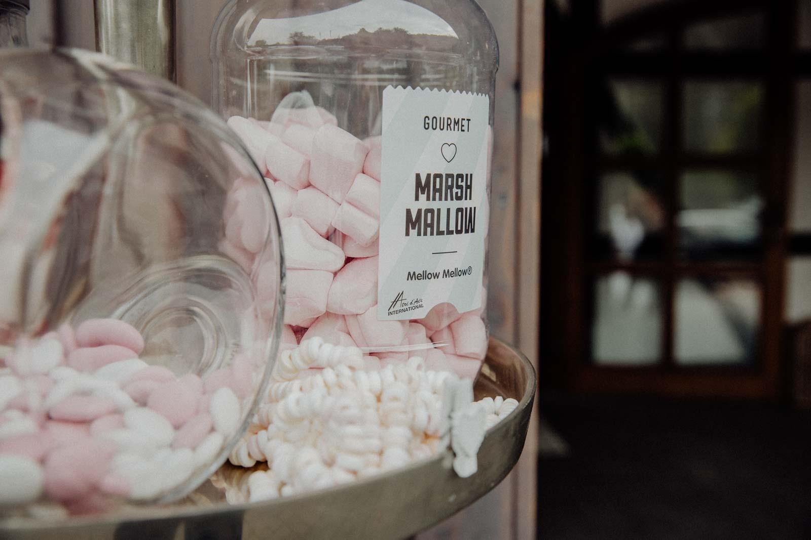 Candy Bar gefüllt mit Marshmallows