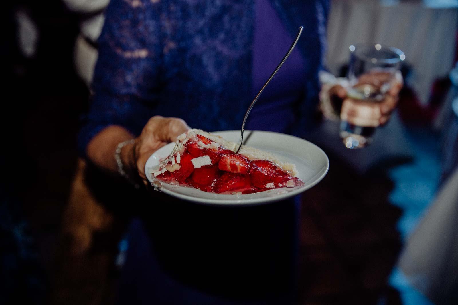 Erdbeerkuchen als Hochzeitstorte