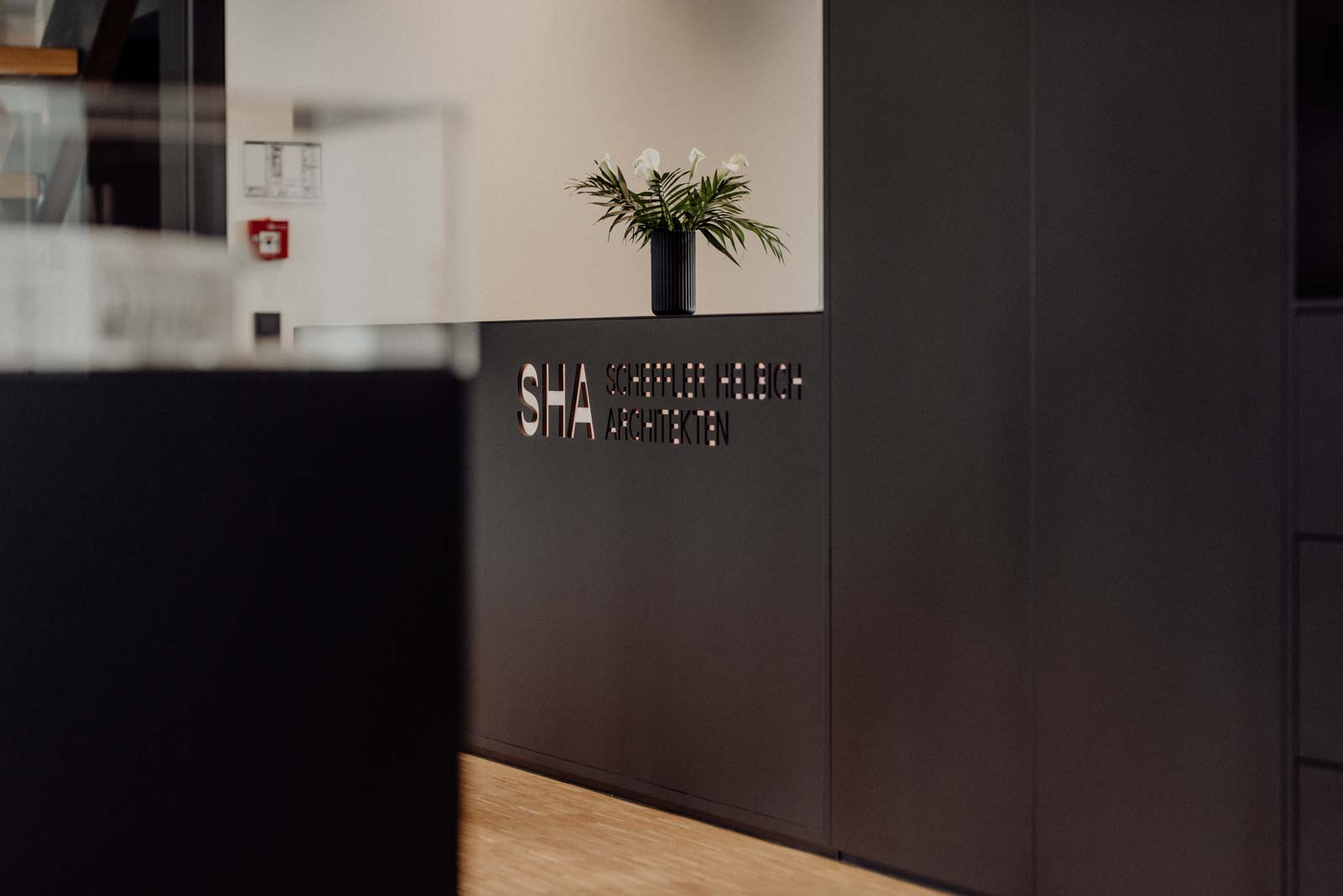 SHA Architekten Dortmund Empfangstresen