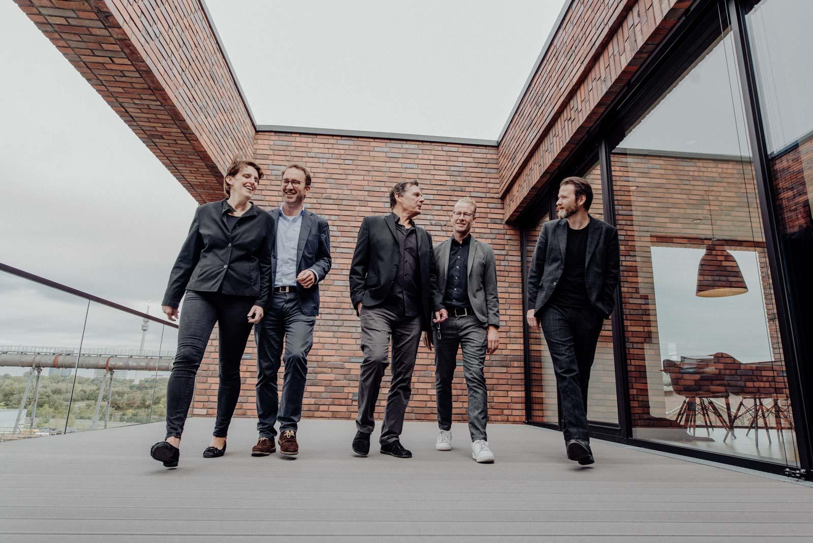 Gruppenfoto der Geschäftsführung SHA Architekten Dortmund