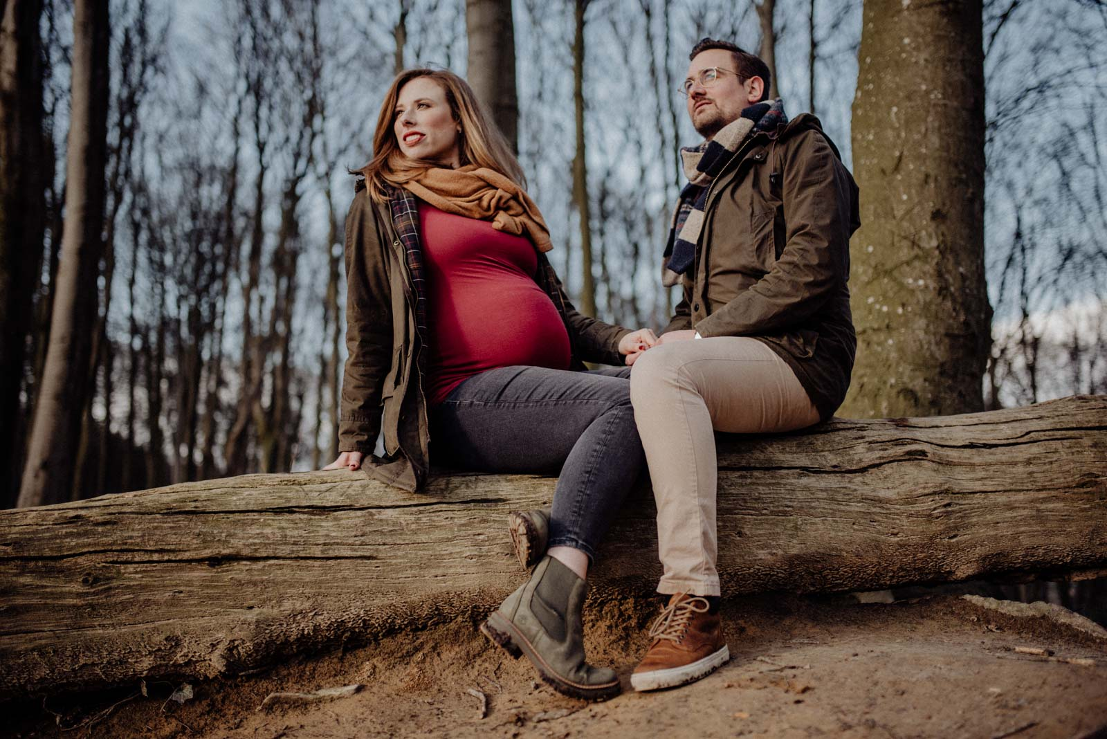008-Babybauch-Shooting-Wald-Natur-Witten-Familienfotografie-Familienfotos