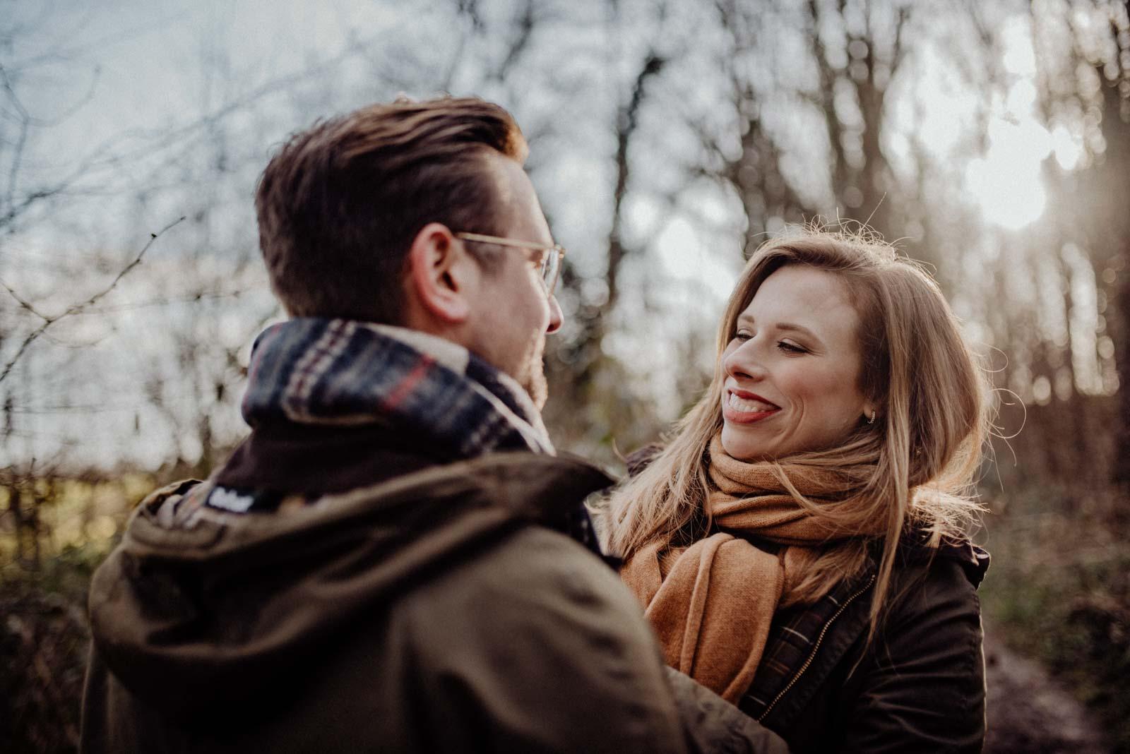 Natürliche und authentische Paarfotografie im Münsterland