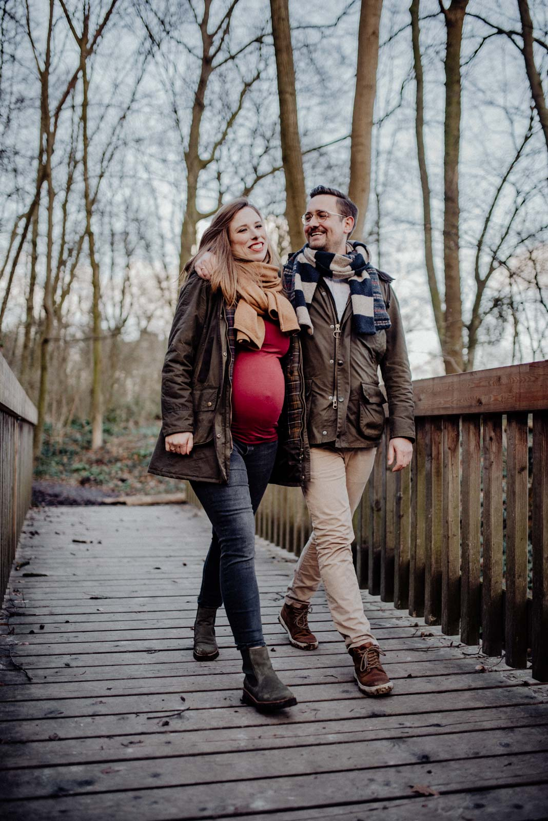 Babybauch-Shooting-Wald-Natur-Witten-Familienfotografie-Familienfotos