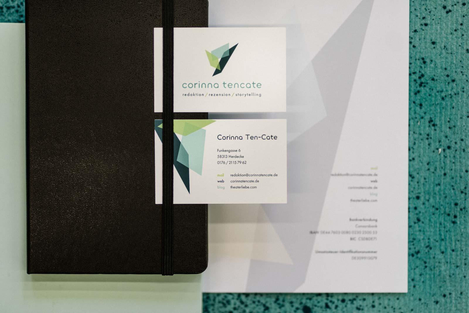 Visitenkarten und Briefbogen Corporate Design Corinna Ten-Cate
