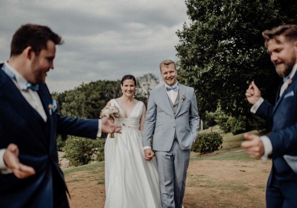 Lustige Gruppenbilder zur Hochzeit